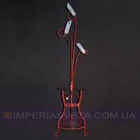Торшер напольный со столом  с плафонами KODE:420043