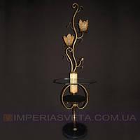 Торшер напольный со столом с плафонами и дополнительной подсветкой основания KODE:352151