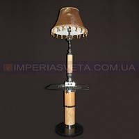 Торшер напольный со столом  с абажуром и дополнительной подсветкой основания KODE:352152