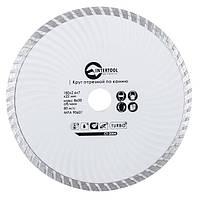 Диск отрезной Turbo алмазный 180мм; 16-18% INTERTOOL CT-2004, фото 1