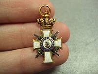 Крест орден ALBERTUS ANIMOSUS золото фрачник