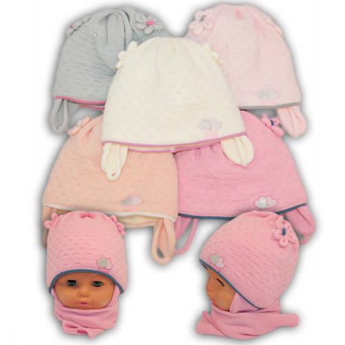 Детский комплект - шапка и шарф для девочки, A702ST, Grans (Польша), утеплитель Softi Term