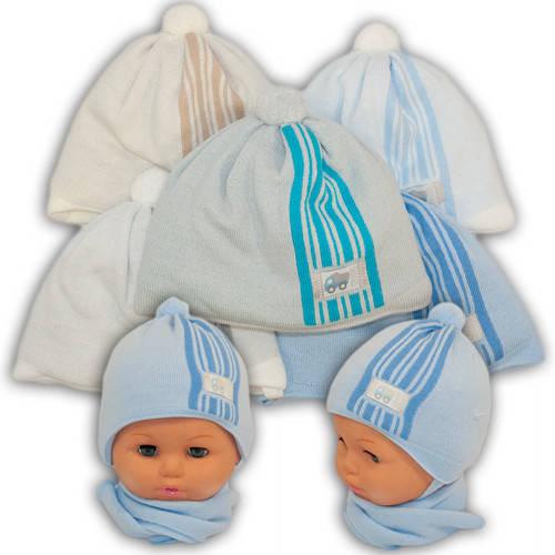 Детский комплект - шапка и шарф для мальчика, A736ST, Grans (Польша), утеплитель Softi Term