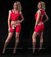 """Стильный молодежный костюм """" Шорты и жилетка """" Dress Code"""