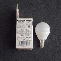 Лампа светодиодная LED 6W E14 3000K шарик KODE:534062