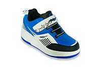 Кроссовки на колесиках синие