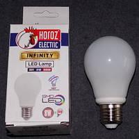 Лампа светодиодная LED 8W E27 6400K шарик KODE:535430