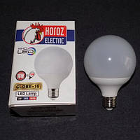 Лампа светодиодная LED 16W E27 6400K шарик KODE:536164