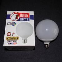 Лампа светодиодная LED 20W E27 6400K шарик KODE:536165