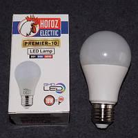 Лампа светодиодная LED 10W E27 3000K шарик KODE:535154