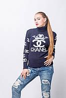 Женский теплый свитер с рисунком