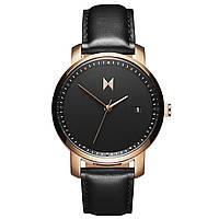 Часы женские MVMT Rose Gold/Black Leather Signature Series