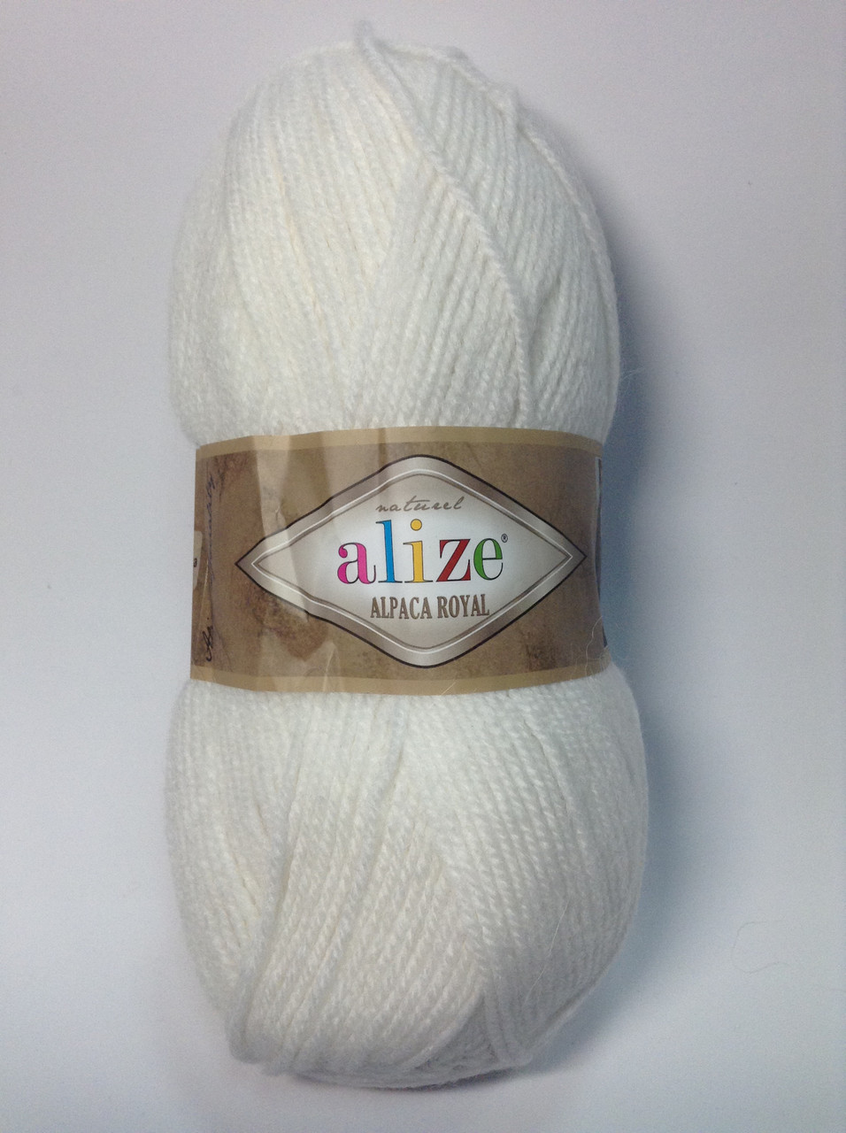 Пряжа alpaca royal - колір білий