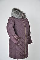 Зимнее пальто больших размеров 52-62 на тройном синтепоне