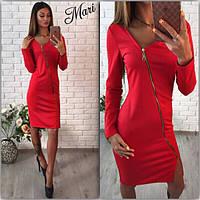 Платье эффектное со змейкой(цвета)