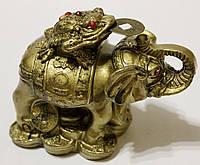 Слон с Трехлапой Жабой Богатства (маленький)
