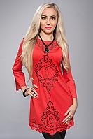 Платье-туника с модной перфорацией