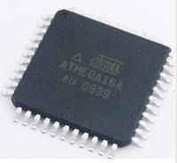 Микросхема микроконтроллер ATmega16A-AU, 8-Бит, AVR, 16МГц, 16КБ Flash, TQFP-44
