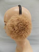 Женские меховые наушники из натурального меха кролика