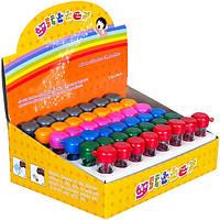 """Глиттер-песок """"Pasco"""" 6 цв. 6,5 гр в пластиковых баночках (48 шт в упаковке) GL-001"""