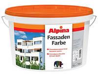 Alpina Fassadenfarbe 18 л Атмосферостойкая белая дисперсионная фасадная краска
