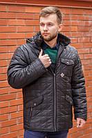 Мужская зимняя куртка М19 черная, фото 1