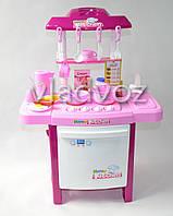 Детская игрушечная кухня со звуком, плита для девочки 2 конфорки happy kitchen розовая