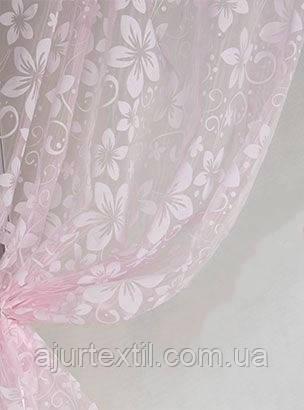 """Органза флок """"Розовый хрусталь"""", фото 2"""