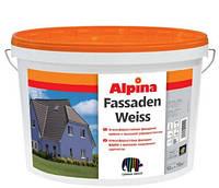 Alpina Fassadenweiss В1 1 л Атмосферостойкая фасадная краска с высокой укрывистостью