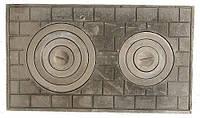 Плита чугунная двокамфорна 71см 41 см 21 кг