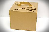 Картонная коробка для торта 30Х30Х25 см (крафт)