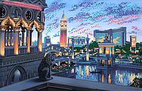 Схема для вышивки бисером POINT ART Вечерние огни Лас-Вегаса, размер 37х24 см