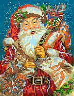 Схема для вышивки бисером POINT ART Санта Клаус, размер 17х22 см