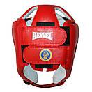 Шлем боксерский REYVEL кожа (2)  (без печати ФБУ) цвета в ассортименте, фото 3