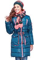 """Зимняя куртка """"Мика""""  в комплекте шарф и шапка"""