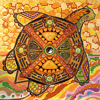 Схема для вышивки бисером POINT ART Черепаха, размер 20х20 см