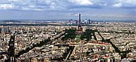 Картина панорамная ПАРИЖ С ВЫСОТЫ