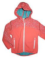 Куртки лыжные на флисовой подкладке для девочек  оптом, Glo-Story, 98-128 рр., арт. GXY-6863