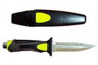 """Нож BS Diver """"Fox"""" (304 ss blade) нерж.сталь в ножнах с кнопкой с ремешками"""