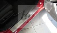 Защитные хром накладки на пороги Honda Accord 8 (хонда аккорд 2008-2013)