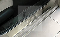 Защитные хром накладки на пороги Honda Accord 9 (хонда аккорд 2013+)