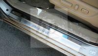 Защитные хром накладки на пороги Honda Accord Coupe USA (хонда аккорд США 2007-2012)