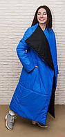 Женское длинное пальто одеяло, двухсторонее