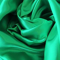 Атлас зеленая-бирюза
