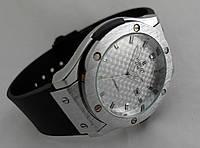 Мужские часы HUBLOT - SILVER CARBON, цвет серебро, карбоновый циферблат, фото 1