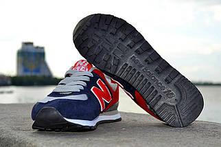 Кроссовки New Balance замшевые, красно-синие, фото 3