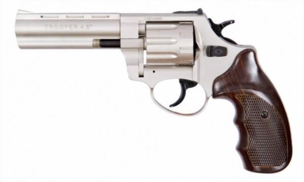 """Револьвер под патрон Флобера Trooper 4.5"""" сталь титан пластик чёрный. Револьверы Trooper , фото 2"""