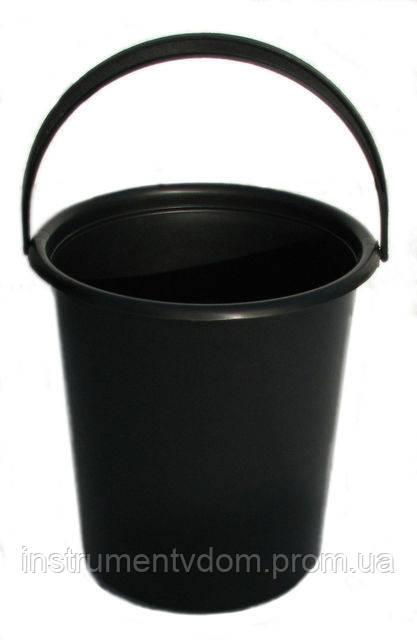 Ведро пластиковое черное (7 л)