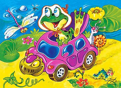 """Пазлы Castorland B-PU06167 """"Черепаха-такси"""" на 60 элементов (B-PU06167)"""