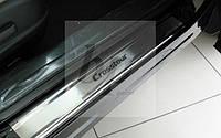 Защитные хром накладки на пороги Honda Сrosstour (хонда кросстур 2009+)